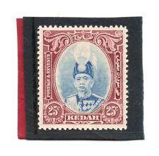 Malaya, Kedah 1937 25c ultramarine & purple sg 62 HH.Mint