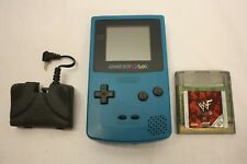 NINTENDO GAME BOY COLOR CGB-001 & GAME & RECHARGEABLE BATTERY