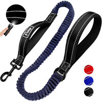 Bungee Dog Walking Lead Reflective No Pull Anti-Shock Leash Traffic Dual Handle