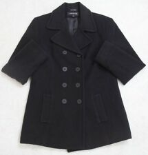 Jones New York Jacket Black Wool Blend Womens Woman Coat Polyester Lined Eight 8