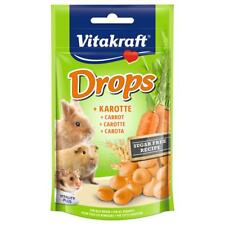 Vitakraft Small Animal Rabbit Sugar Carrot Drops 75g