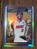 2016-17 DONRUSS OPTIC LEBRON JAMES #1 HOLO SILVER PRIZM THE CHAMP IS HERE HEAT