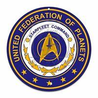 "Star Trek Starfleet Command Federation of Planets 12"" Circle Aluminum Sign"