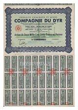 ACTION 2500 FR COMPAGNIE  DU DYR (produits chimiques et mines ) 1943