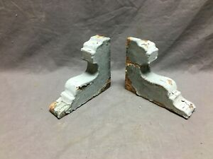Small Pair Antique Wood Porch Corbels Shabby VTG Chic Shelf Brackets 1279-20B