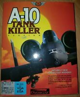 A-10 Tank Killer Version 1.5 MS-DOS With Manual, Box, and Floppy Discs