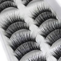 10 Pairs Natural Fashion Handmade Real Mink 3D False Eyelashes Thick Long Lashes
