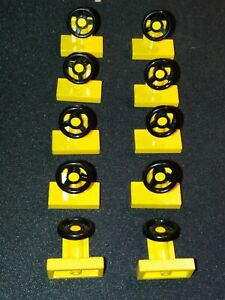 LEGO STEERING WHEEL 3829 (PACK OF 10) SELECT COLOUR AND AMOUNT FREE POSTAGE
