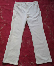 Marks and Spencer Cream Extensible Needlecord bootcut jeans 14