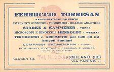 C4299) MILANO, FERRUCCIO TORRESAN, STRUMENTI GEODETICI, BINOCOLI, TERMOMETRI.