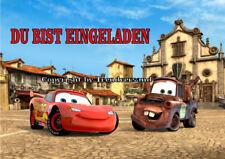 6 Disney Pixar Cars Kindergeburtstag Einladungskarten + 6 Umschläge E1 ( W )