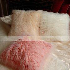 Long Curly Faux Wool Sheepskin Fur Cushion Pillow Case Cover Sofa Decor Cute New