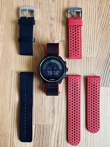 Suunto 9 Baro Red - GPS-Uhr - Multisportuhr - mit 3 originalen Armbändern