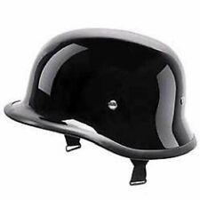 After Market German Retro Style Half Helmet Glossy Black For Royal Enfield