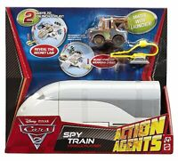 DISNEY PIXAR CARS 2 ACTION AGENTS SPY TRAIN PLAYSET With Acer