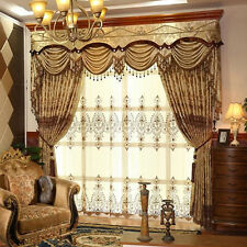 hollow embroidered high-class luxury gold cloth curtain valance tulle E768