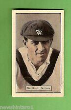 1934 - 1935 ALLEN'S CRICKET CARDS #3  H. S. LOVE