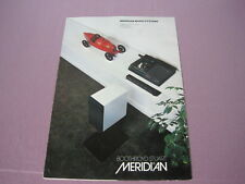 Meridian Music System Product Information Manual=Original!