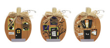 Pumpkins Halloween Ornaments Set of 3 NWT by Ganz Fall Country Decor Standing
