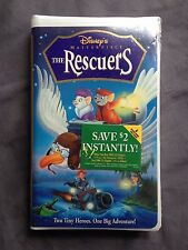 Disney VHS The Rescuers (NEW Sealed Masterpiece Collection)
