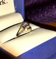 RETRO 1950's SI1 EMERALD CUT .25CT DIAMOND 14kt TWO-TONED Gold Ring, App.