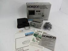 Vintage Sanyo TPM2100 Horizon Mini B/W TV-AM/FM Radio-Alarm Clock Extras Tested!