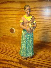 Vintage Black African American Resin Figurine African Garment Man w/Monkey