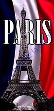 Drap de bain serviette de plage Paris drapeau français Tour Eiffel Neuf