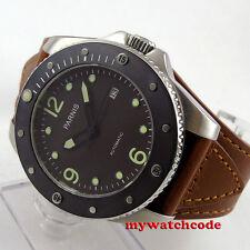 43mm Parnis deep coffee dial Sapphire ceramic bezel Automatic mens Watch P600B