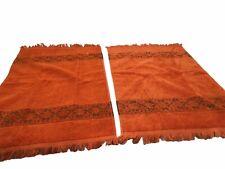 "Set Of 2 Jc Penny boho Bathroom hand decorative Towels Orange Soft Towel 25x15"""