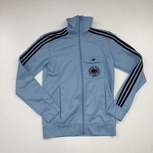 Adidas Germany Track Jacket Size Small Blue Trefoil Futbol
