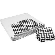 "Restaurant Deli Paper Food / Basket Liner Wrap, 12""x12"" Black Checkered 1000 ct"