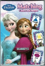 36 Disney FROZEN Characters MATCHING Colors & Shapes Preschool Card Game Age 3+