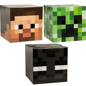 Official Minecraft Cardboard Box Head Alex Steve Creeper Skeleton Halloween