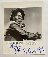 JAMES BROWN Signed Autograph 8x10 Photograph JSA Authentication