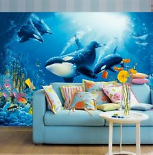Photo Wallpaper KILLER WHALE ORCA Wall Mural 366x254cm BLUE SEA LIFE OCEAN