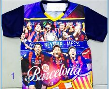 Fc Barcelona Jersey Characters Messi,Suarez,Neymar Kids Sizes