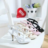 Summer Cutout Female High Heels Sandals Platform Plus Size Ladies Women Shoes