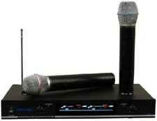 Used Hisonic HS8286 VHF Dual Rechargeable Wireless Microphone System