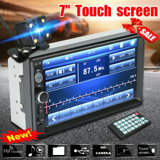 7'' Touch Screen Car MP5 Player 2 Din HD Stereo FM Radio Rear Camera Mirror Link