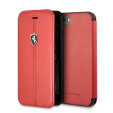 FERRARI Heritage Leder iPhone 7, iPhone 8 SCHUTZHÜLLE Book Case Cover Rot
