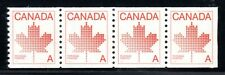 1981 Canada SC# 908 Maple Leaf Definitive strip of 4 coil Lot C176 M-NH