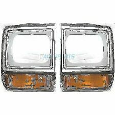 NEW LEFT & RIGHT HEAD LAMP DOOR FITS 1986-1990 DODGE D150 CH2513122 CH2512122