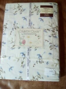 BELLEDORM COUNTRY DIARY VIOLA SINGLE FITTED VALANCE SHEET BRAND NEW SEALED