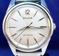 Bulova 1962 vintage Swiss 17J automatic ss watch with NOS Brite stretch band