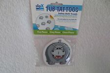 Tub Tattoos 5 Pieces Safety Bath Treads Hippo Fun and Safety for your Bath tub