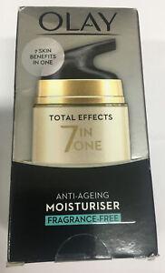 Olay Total Effects 7-in-1 / Fragrance Free /Anti-Ageing Moisturiser Cream - 50ml