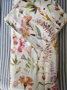 Marks & Spencer Pure Cotton Sateen Floral Print Kingsize Duvet Set