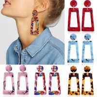 Mottled Acrylic Dangle Drop Statement Earrings for Women Resin Fashion Jewelry N