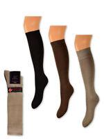 35-48 Trachten Socken Trachtenstrümpfe Struktur Baumwolle mit Elasthan Natur Gr